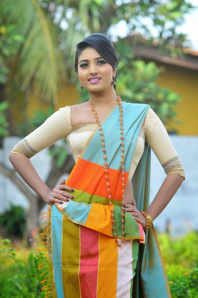 how to wear sri lankan osariya