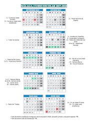Calendario escolar 2017/18