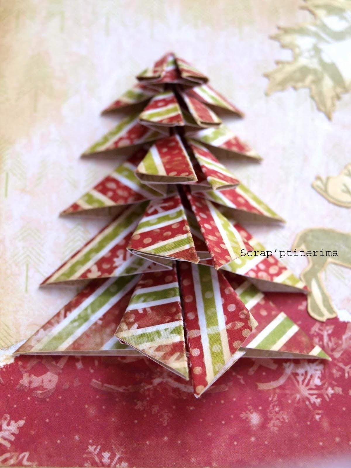 Scrap 39 ptiterima carte sapin en origami - Sapin en origami ...