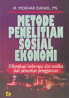 toko buku rahma: buku METODE PENEITIAN SOSIAL EKONOMI, pengarang moehar daniel, penerbit bumi aksara