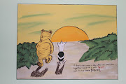 look at pooh and piglet walking into the sunset from it's crib