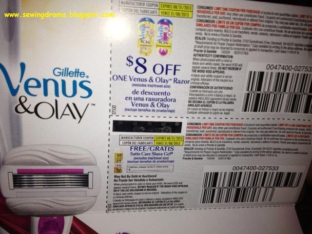 Gillette venus coupons