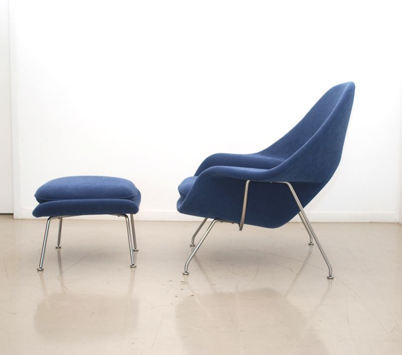 The fabric used in this restoration was Field Day in Cobalt by Knoll. If you would like to see another Womb Chair restoration we did recently ...  sc 1 st  classic design & classic design: Before u0026 After: Saarinen Womb Chair u0026 Ottoman