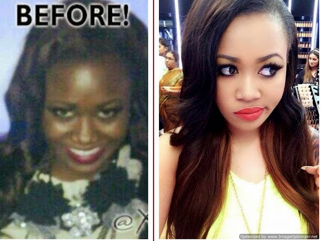 Nigerian Girl gets dumped by boyfriend after bleaching to satisfy him