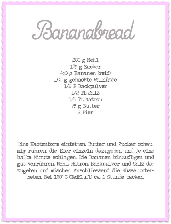 Banana Bread Recipe Infografik Bananen Brot Rezept Applewoodhouse