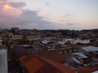 Santiago de Cuba rooftop twilight Casa Granda
