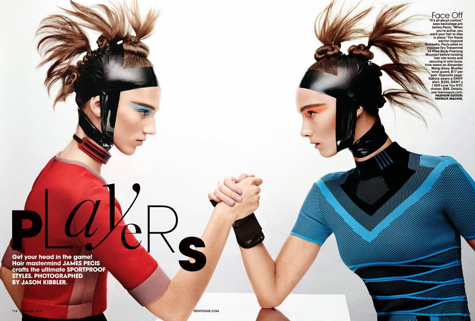 Sabina Lobova, Irina Liss And Jing Wen By Jason Kibbler For Teen Vogue