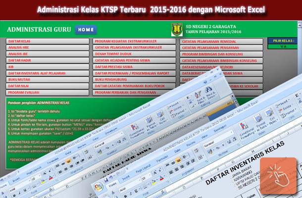 Administrasi Kelas KTSP Terbaru 2015-2016 dengan Microsoft Excel