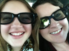 Our girls in 3-D glasses!