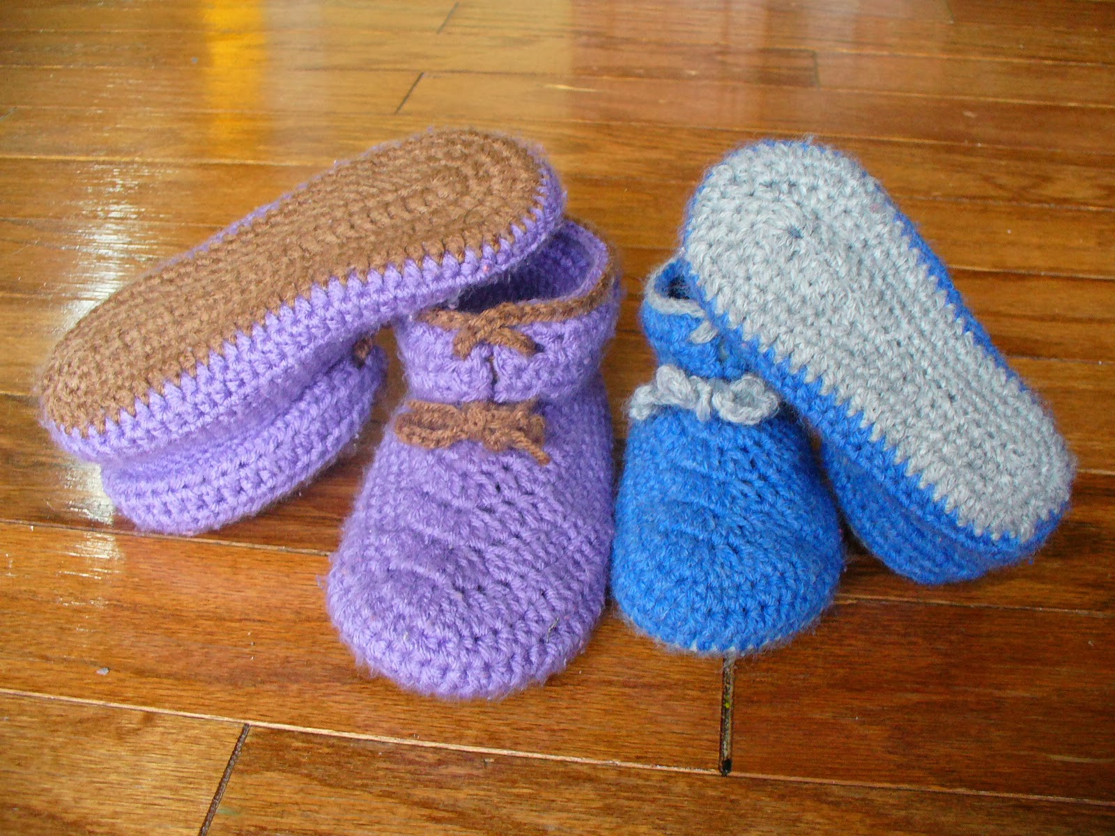 Crochet Stitches Dc3tog : Sanity by Stitches: Toddler Double Sole Moccasins - Pattern