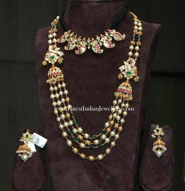 Pearl And Gold Beads Step Mala