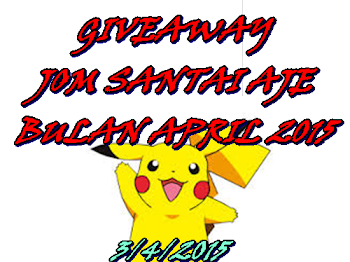 Giveaway Jom Santai Aje Bulan April 2015