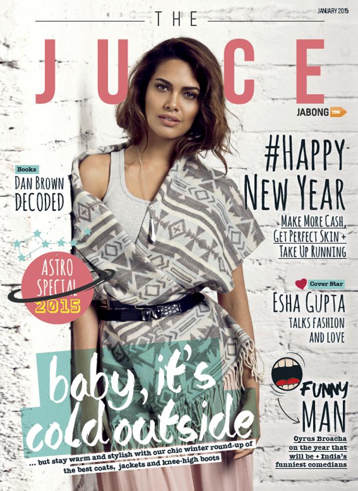 Esha Gupta - Juice Magazine, January 2015