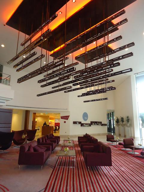 Lobby of Radisson Blu Yas Island Abu Dhabi