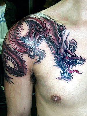 dragon tattoo designs for men design art. Black Bedroom Furniture Sets. Home Design Ideas