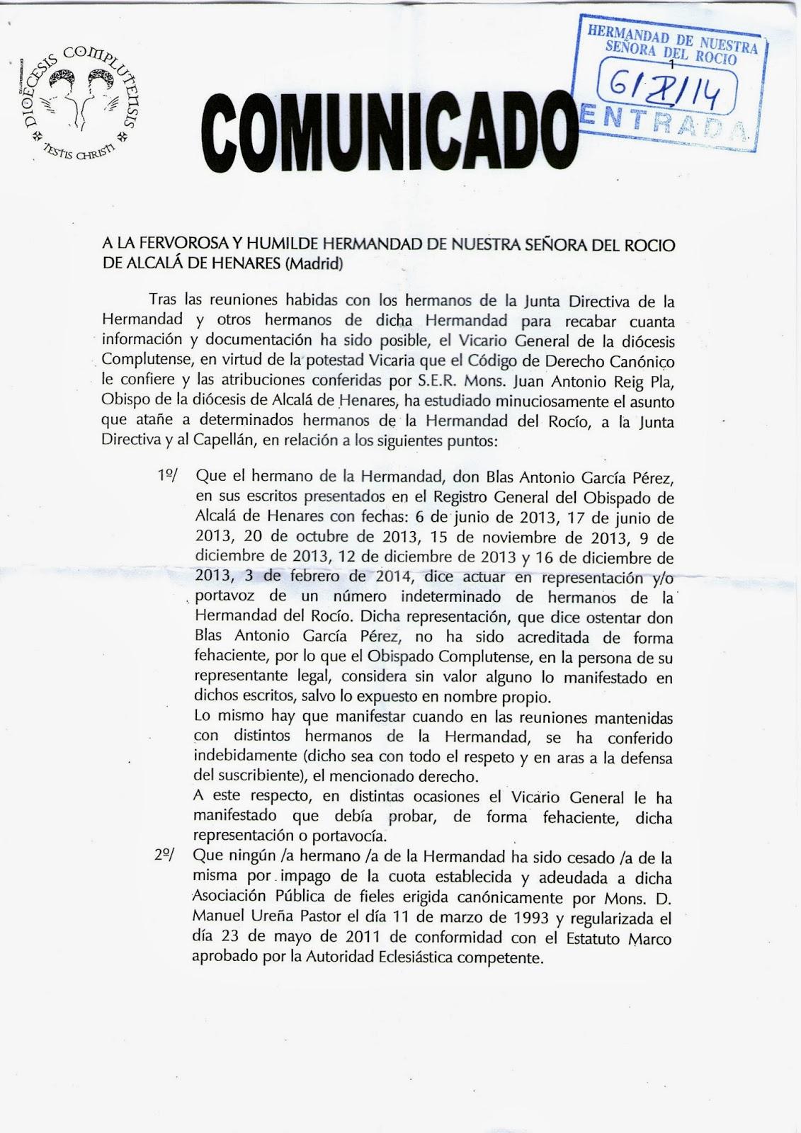 Facebook asunto córneo en Alcalá de Henares