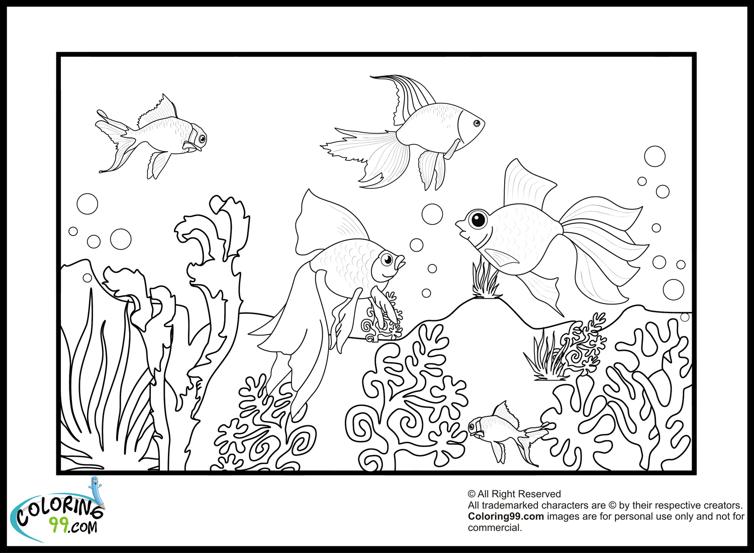 Goldfish Coloring Pages Team