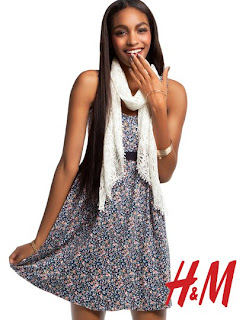 >Jourdan Dunn pour H&M Romantic Preppy