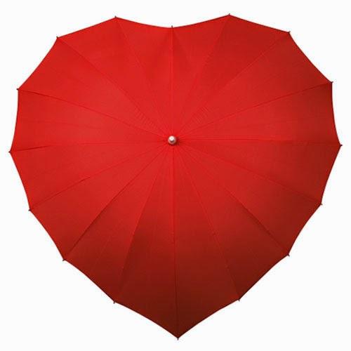 مظلة المطر على شكل قلب