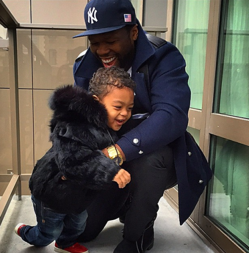 50 cent fur coat for son