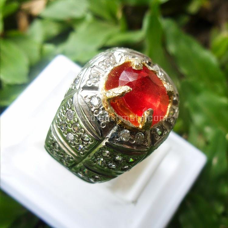 Cincin Batu Permata Padparascha Sapphire - SP533
