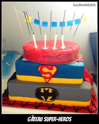 image Gâteau SUPER-HEROS