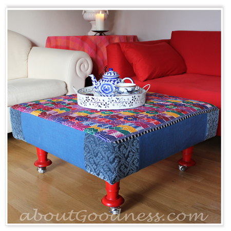 Make Your Own Large Ottoman On Wheels From Scratch With Just A Few