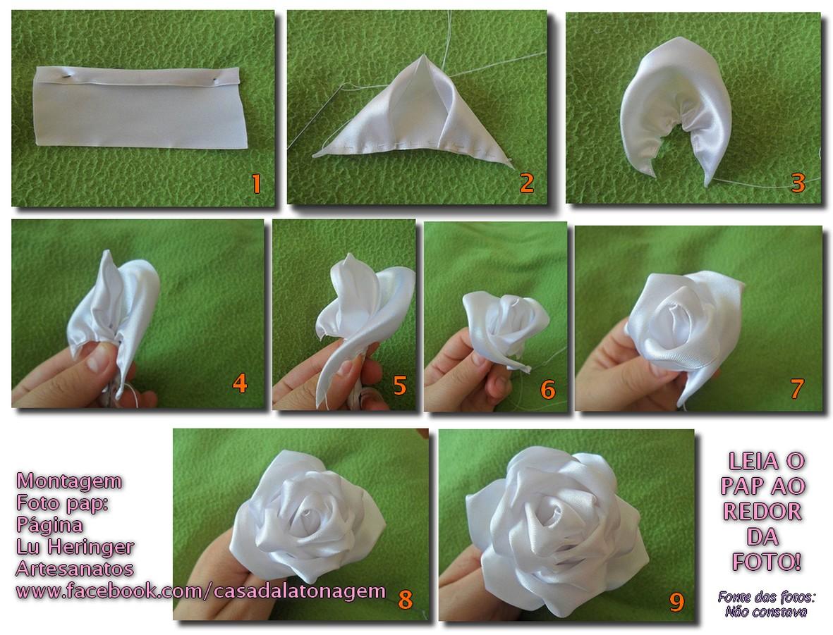 Artesanato Aprenda A Fazer Flor De Tecido Uma Rosa Perfeita