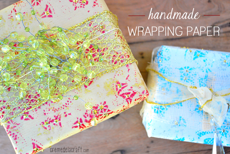 Diy holiday wrapping paper from paper doilies for Crafts for birthdays as a gift