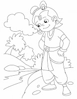 Pages download free krishna the innocent butter thief coloring pages - Religious Coloring Pages Kids Coloring Pages