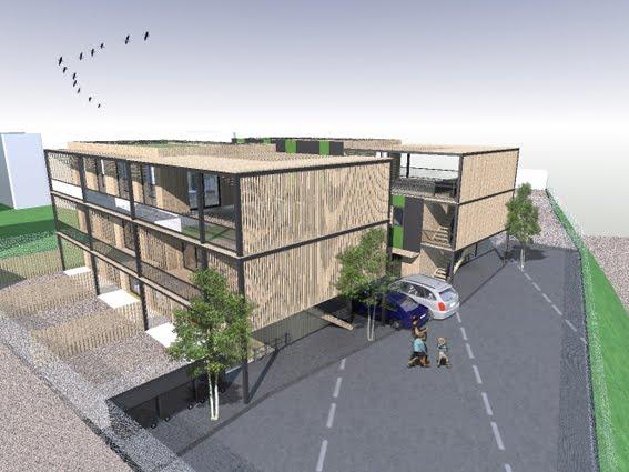 Modern architecture group immeuble en bois arcueil 94 for Immeuble bureaux structure bois