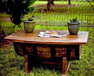 Tonel de Vino Reciclado, Muebles Funcionales y  Ecoresponsables