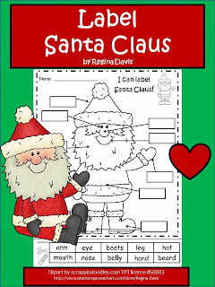 http://www.teacherspayteachers.com/Product/A-Santa-Claus-Label-Santa-Claus-437546