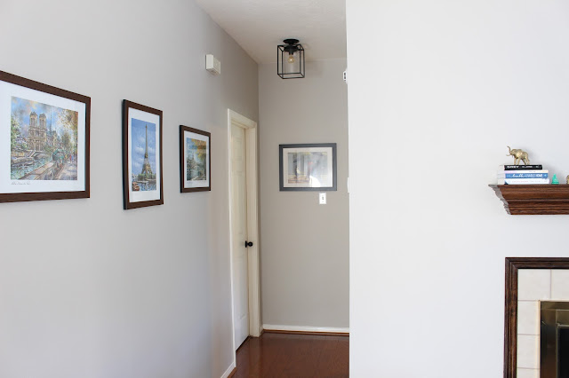 Retro Industrial Style Flush Mount with Matte Black Metal Box Frame installed parrot uncle lighting company