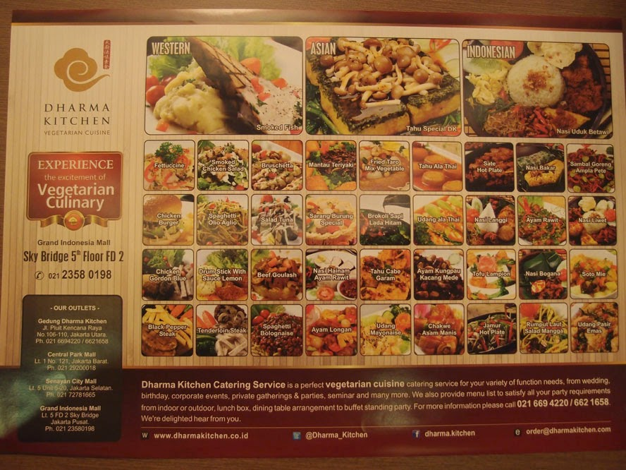 Dharma Kitchen (Vegetarian Restaurant Jakarta) | Jakarta100bars ...