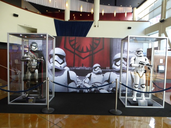 Star Wars Force Awakens Stormtrooper costume exhibit