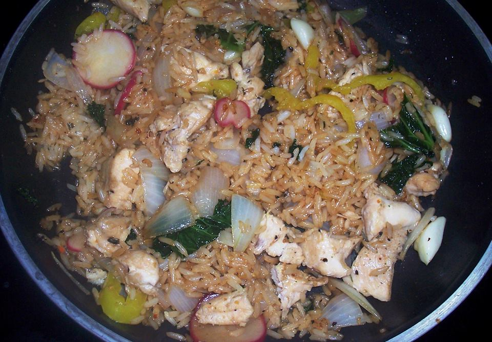 Rice with Chicken or Shrimp