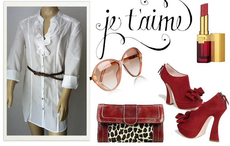 Look branco e vermelho