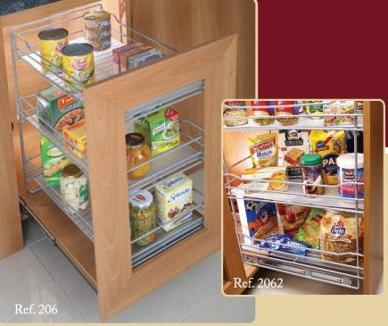 Cocinas integrales j v accesorios plastificados Muebles para despensa