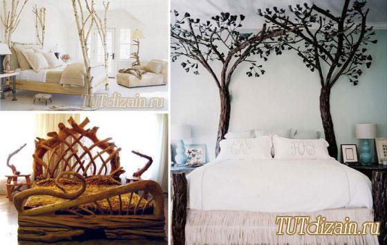 Декор из веток или дерева своими руками