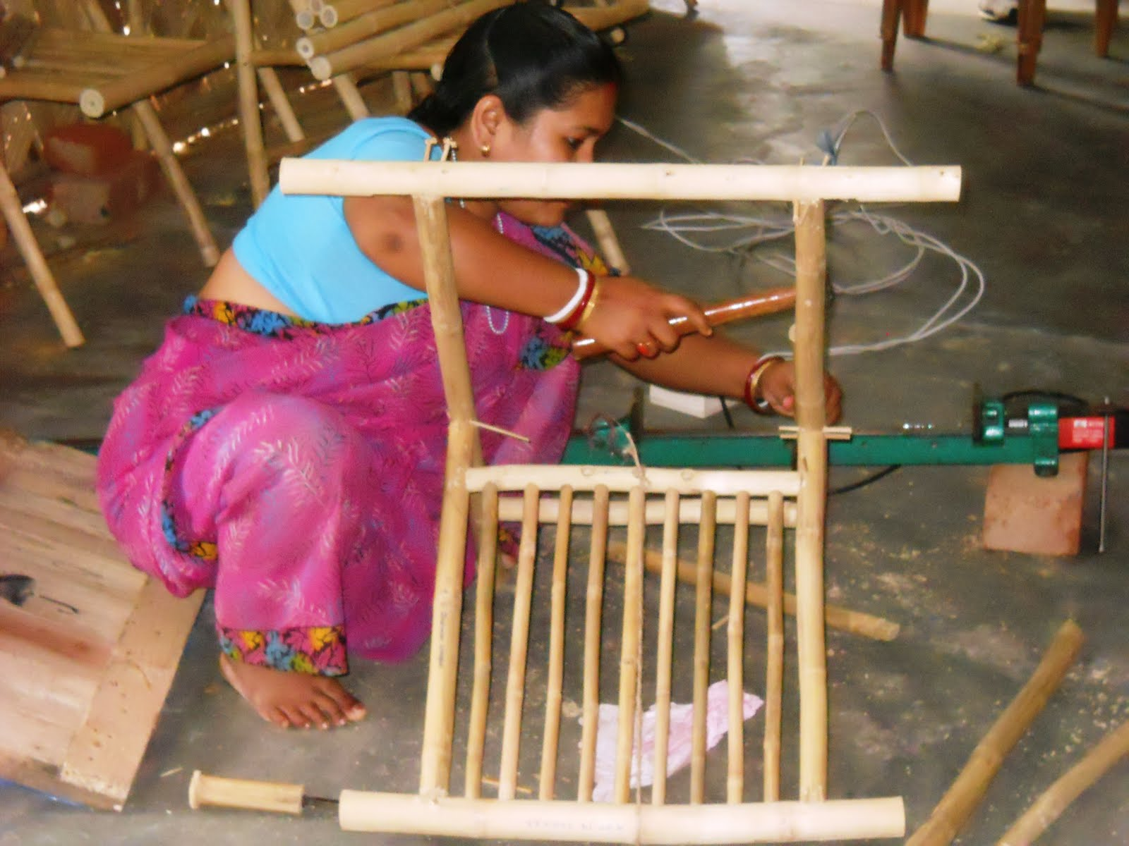 Eco green unit areca leaf plates making banana fibre for Furniture making courses