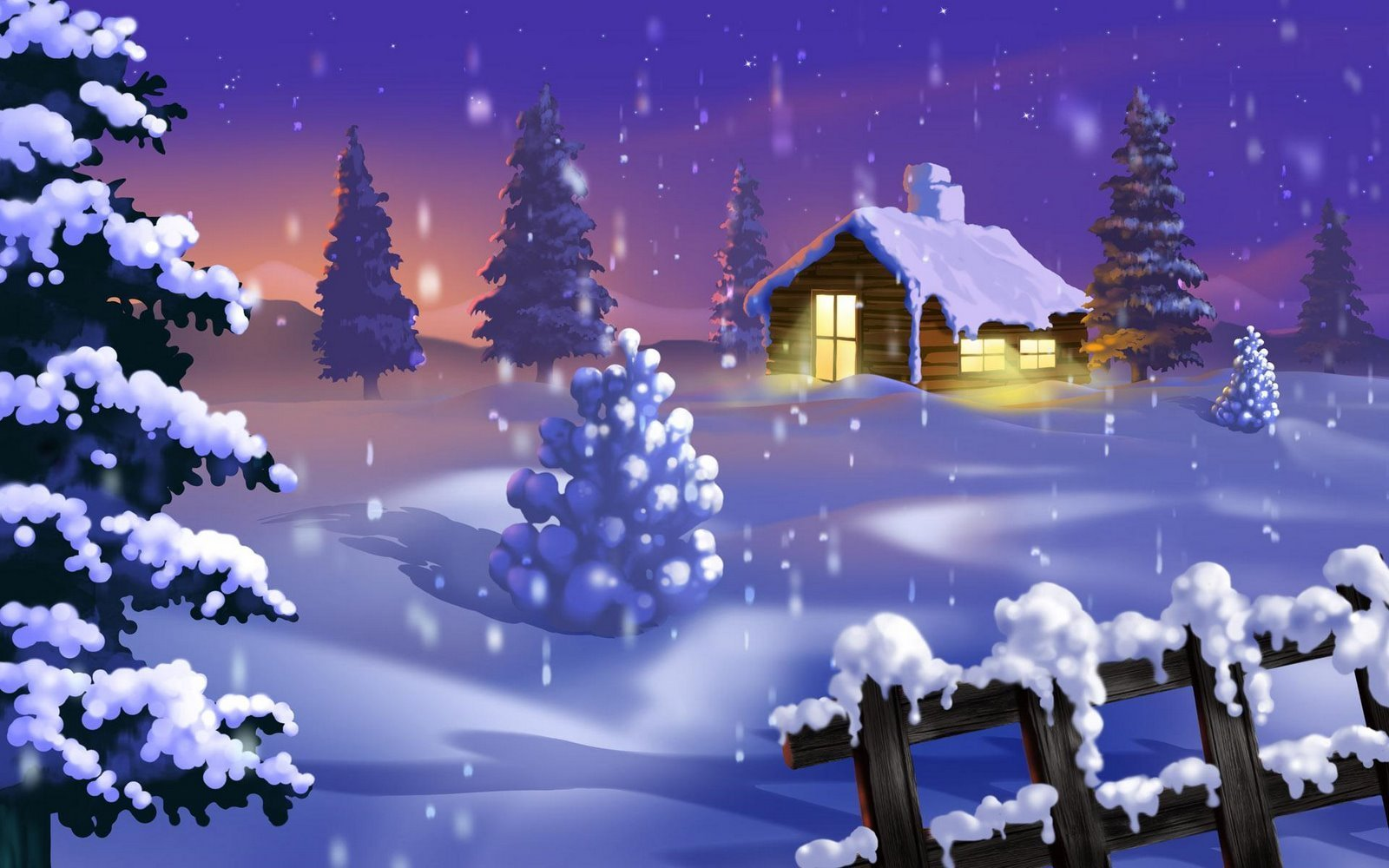Winter Christmas Desktop Free Wallpaper