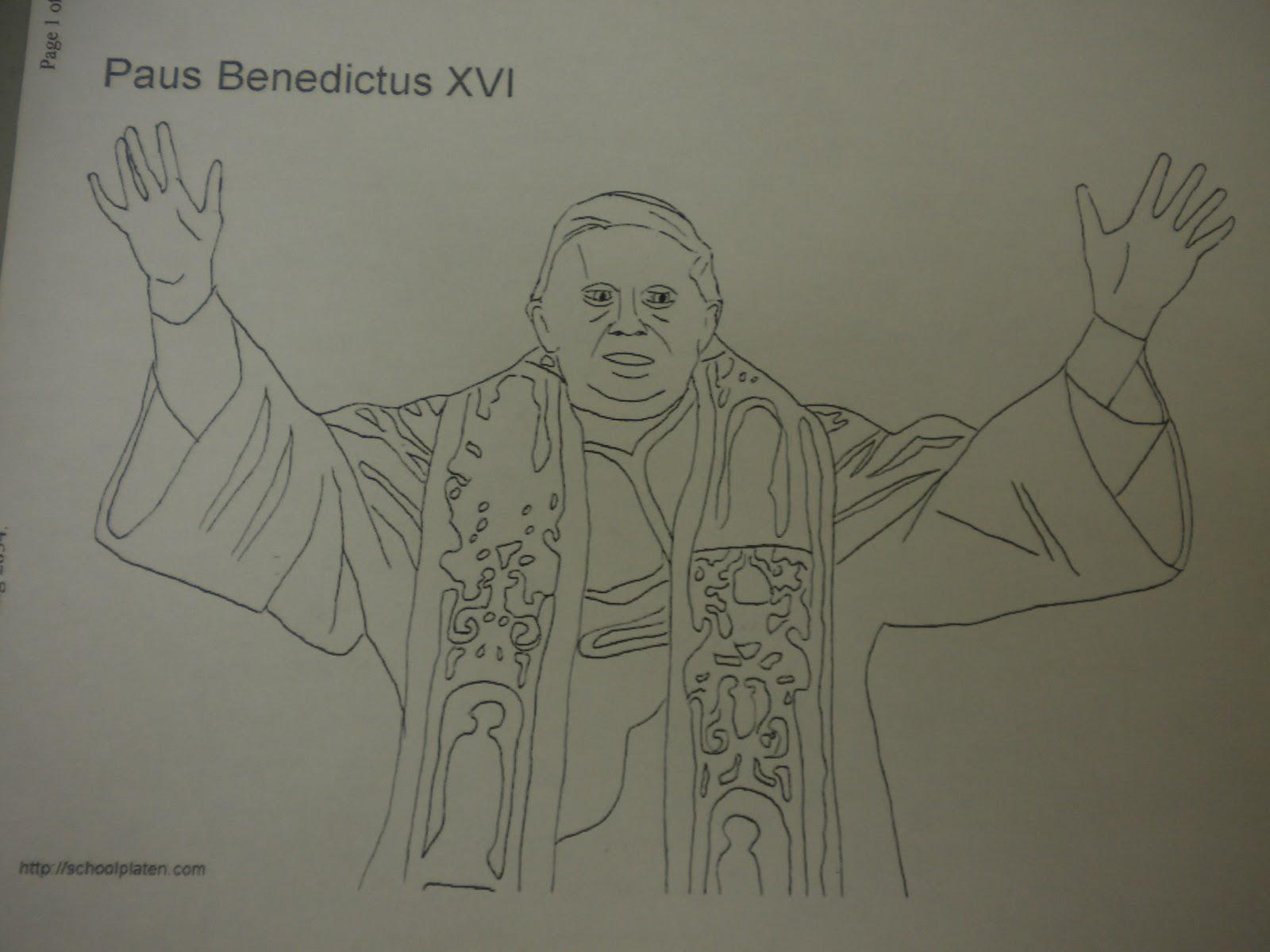 Familia Católica: Páginas para Colorear del Papa Benedicto XVI