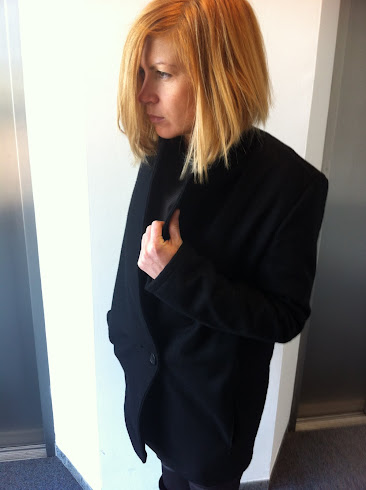 wool coat black