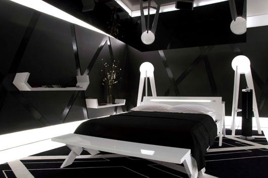 Brilliant Black and White Bedroom Interior 530 x 352 · 48 kB · jpeg