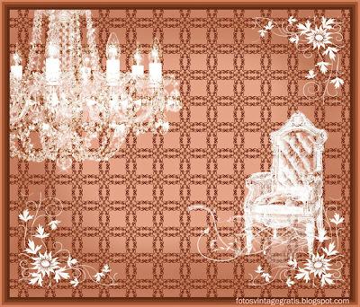 fondo vintage con lámpara victoriana y silla
