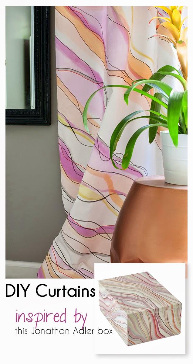 Jonathan Adler DIY painted curtains