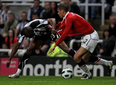Chris Smalling Manchester United vs Newcastle United Barclays Premier League