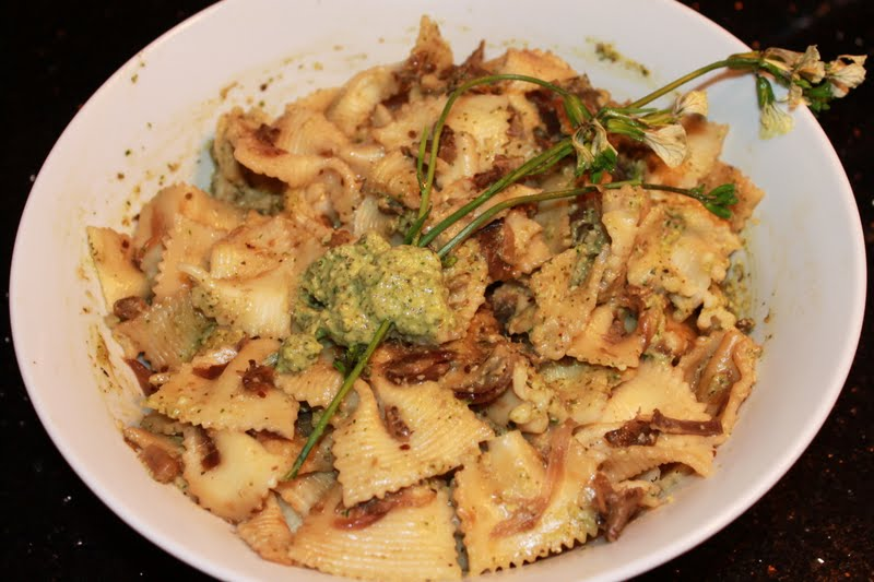 Baked by Chitra...: Farfalle with roasted eggplant in ...