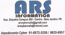 ARS Informática - A.V Siqueira Campos, Nº 386 Centro - FONE: 8872 - 3336